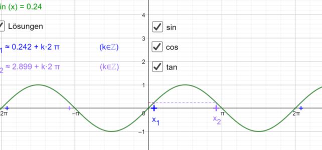 Lösen von trigonometrischen Gleichungen (Ma 10)