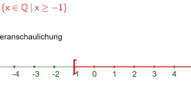 Lösungsmenge von Ungleichungen (Ma 7)