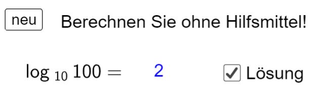 Ü Logarithmus ermitteln (Ma 10)