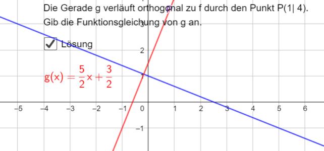 Orthogonale Gerade ermitteln (Ma 8)