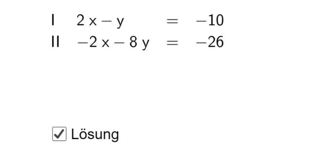Ü Additionsverfahren (Ma 8)