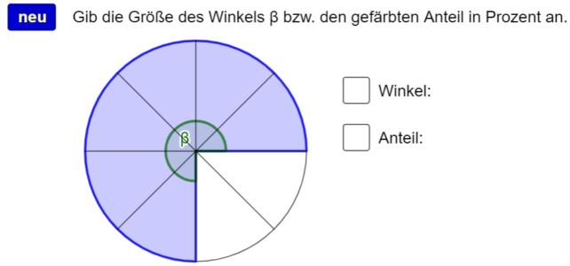 Anteile im Kreis (Ma 7)