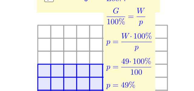 Zusammenhang von G, W, p (Ma 7)