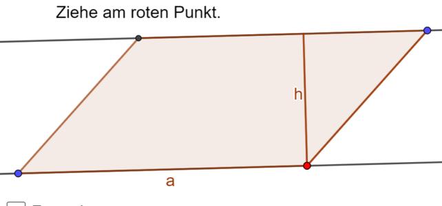 Flächeninhalt eines Parallelogramms