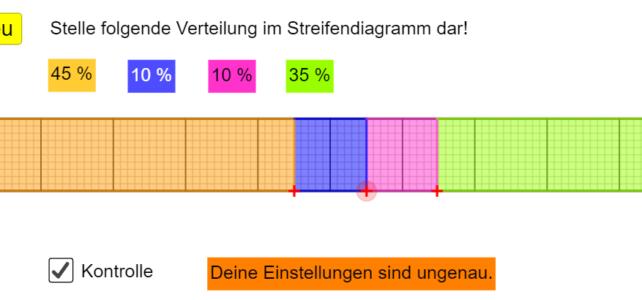 Streifendiagramm einstellen (Ma 7)