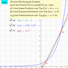 Graph durch zwei Punkte (Ma 10)