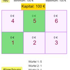 Simulation eines Glücksspiels (Ma 8)