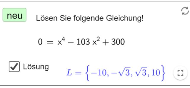 Ü Gleichungen höheren Grades lösen (Ma 11)