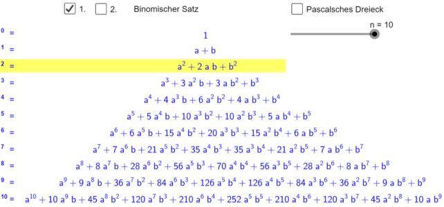 Binomischer Satz (Ma 8)